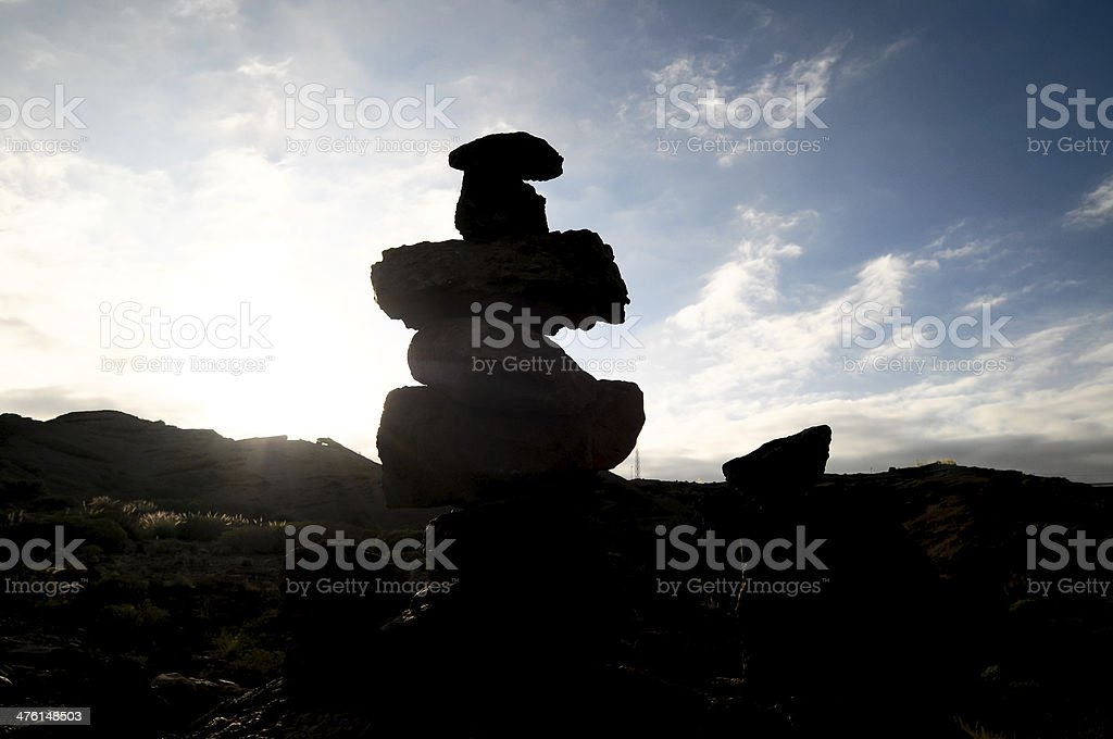 Volcanic Rocks Column stock photo