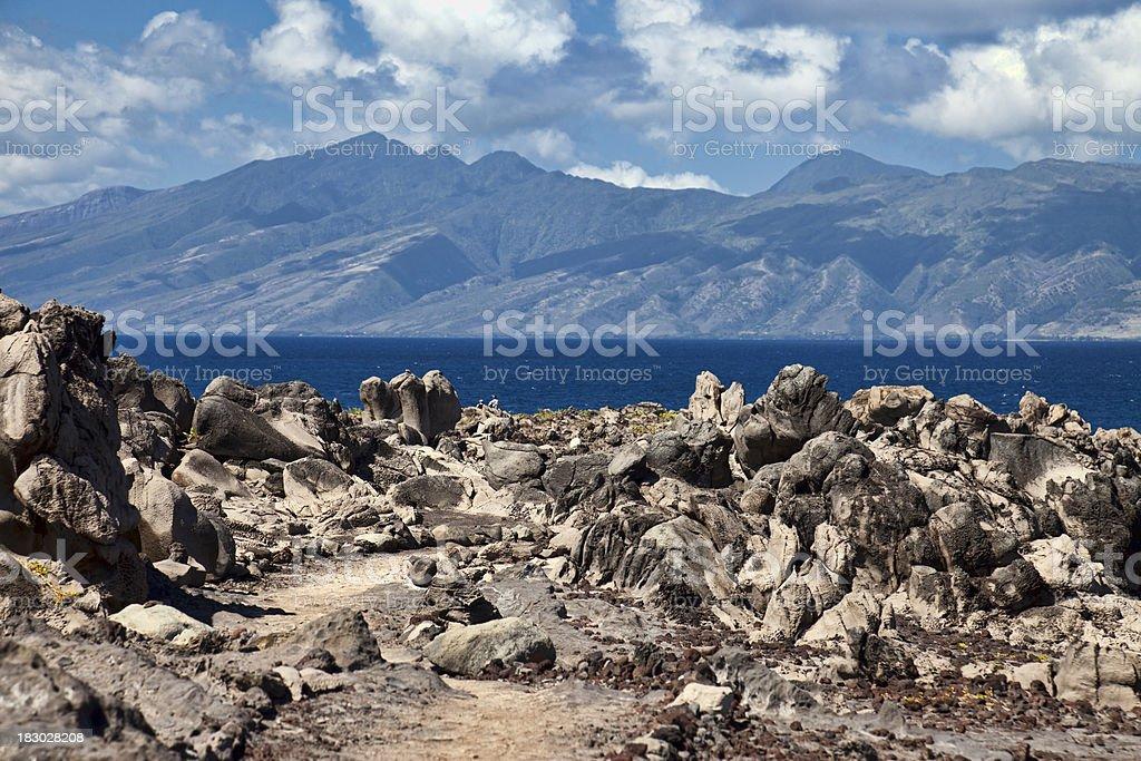 Volcanic Rocks Maui Hawaii stock photo