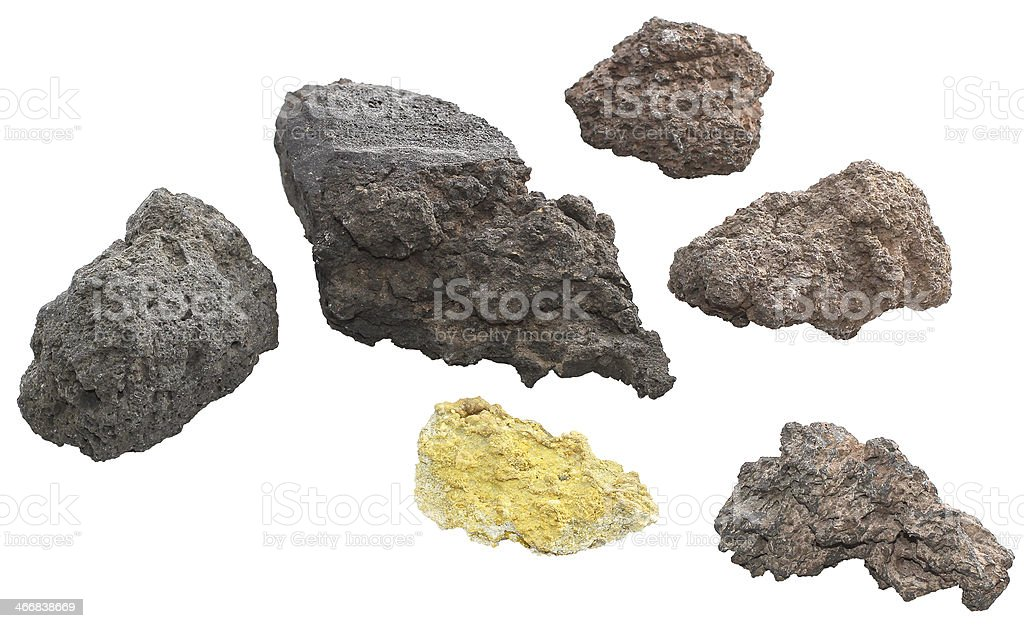 Volcanic rocks stock photo