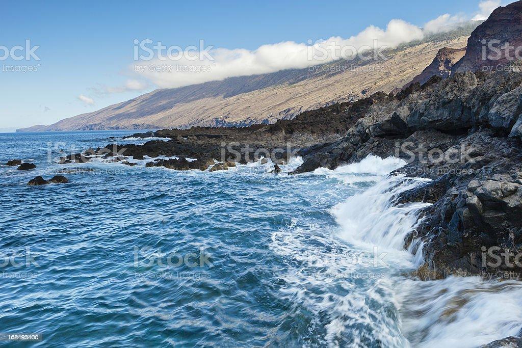 Volcanic Seashore, El Hierro stock photo