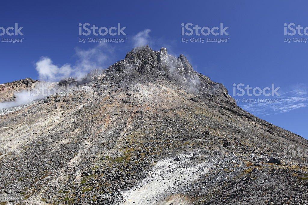 Volcanic smoke stock photo