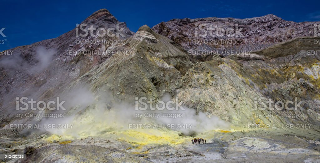 Volcanic steam vent on White Island stock photo