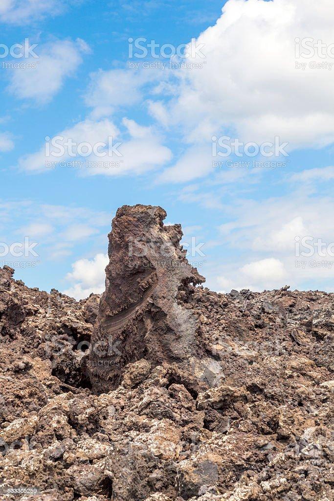 volcanic stones in Timanfaya, Lanzarote stock photo