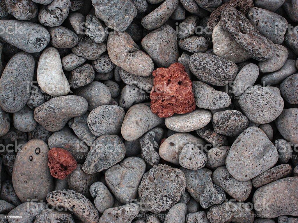 Volcanic stones stock photo