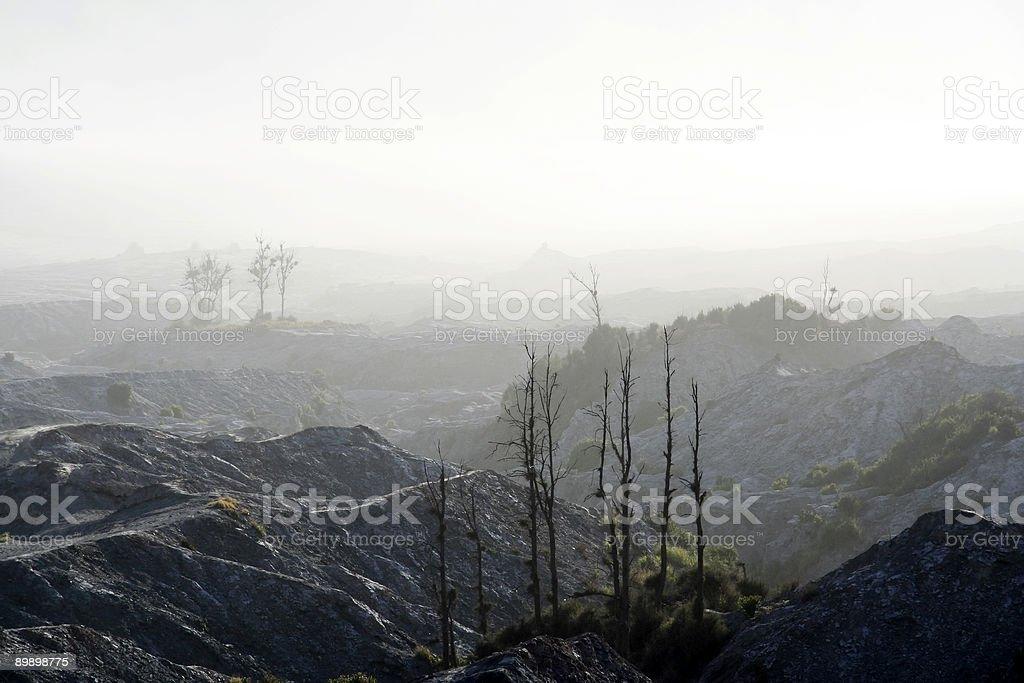 volcanic wasteland royalty-free stock photo
