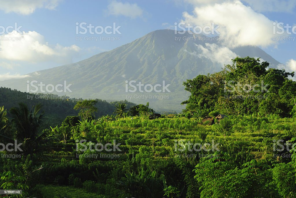 Volcano Agung in Bali royalty-free stock photo