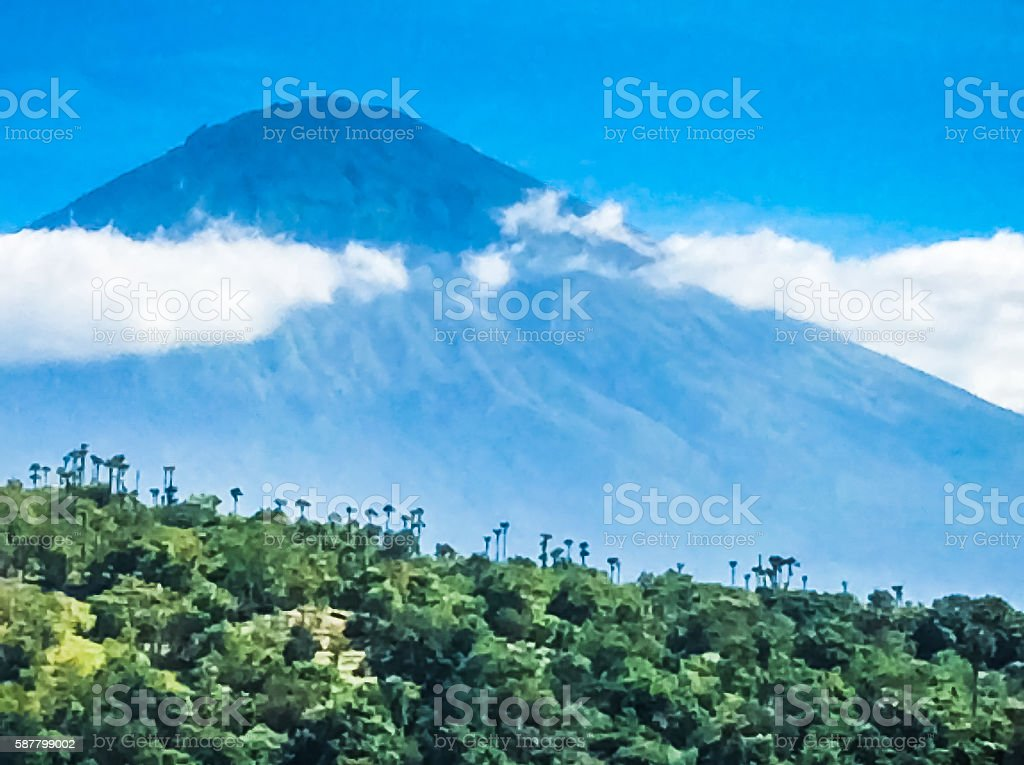 Volcano Bali Mount Agung Gunung Indonesia stock photo