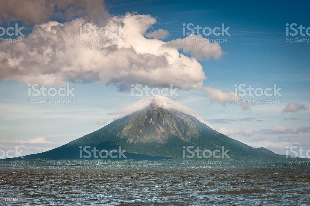 Volcano Concepcion Ometepe Island Nicaragua stock photo