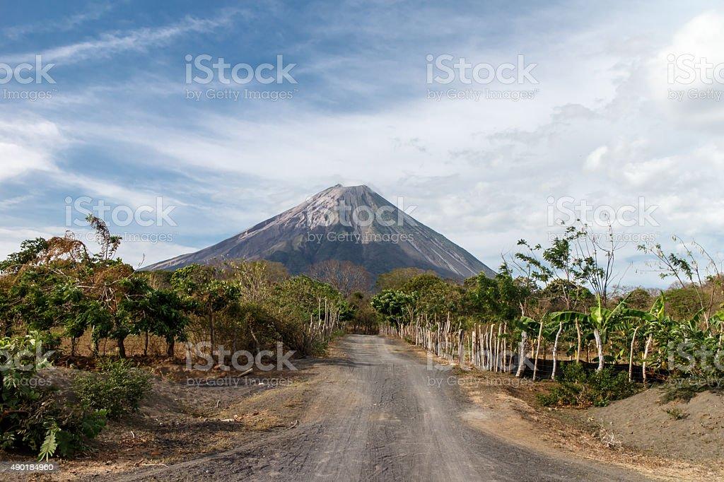 volcano Concepcion view in Ometepe, Nicaragua stock photo
