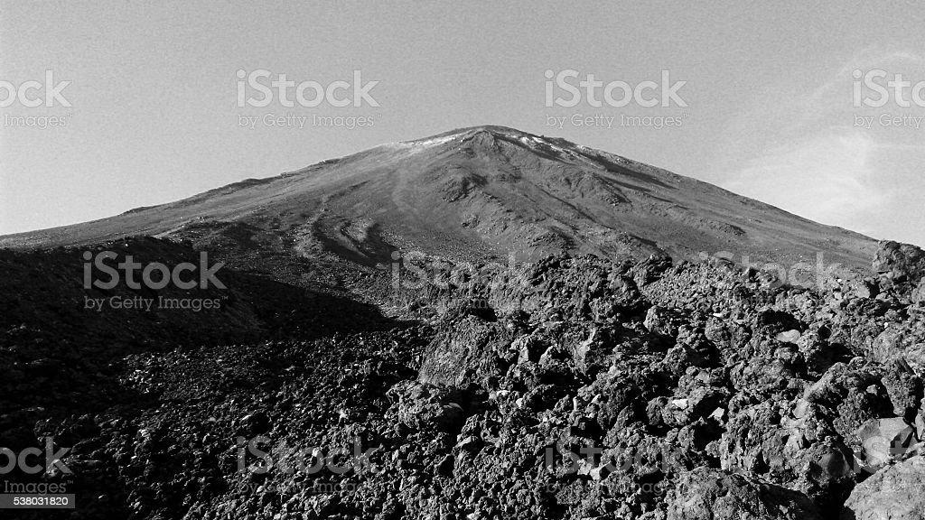 Volcano cone, tongariro stock photo