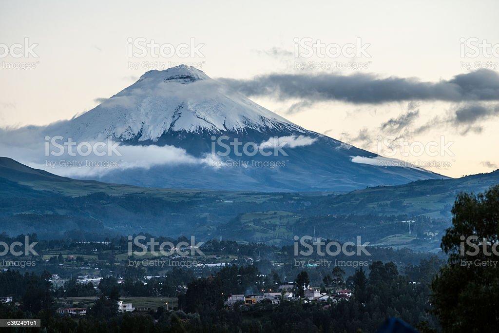 Volcano Cotopaxi, Ecuador stock photo