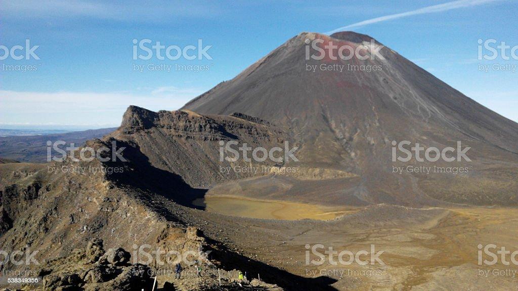 Volcano crater, Tongariro stock photo