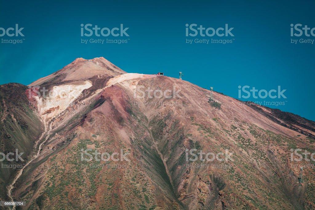 Volcano El Teide in National Park of Tenerife island stock photo