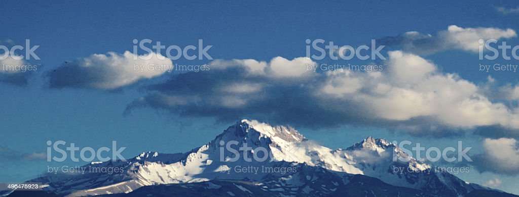 Volcano Erciyes stock photo
