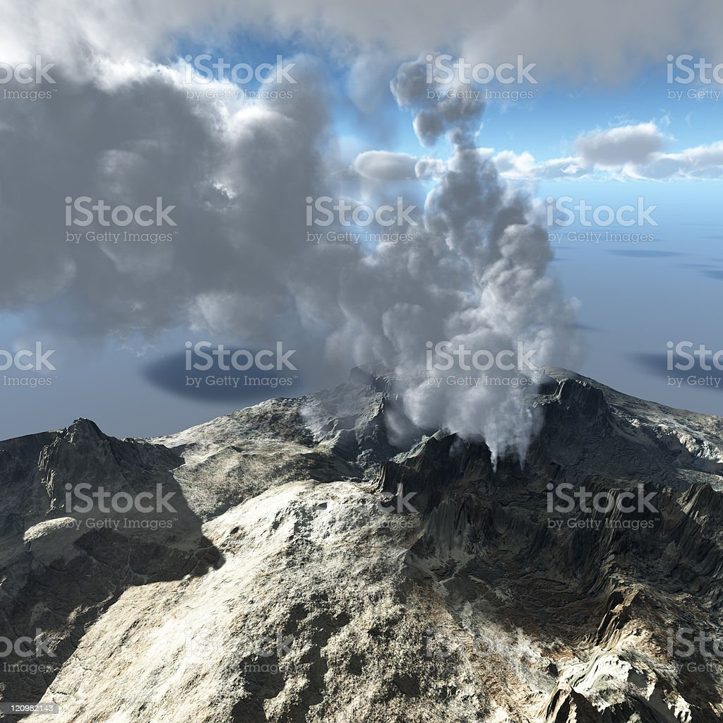Volcano eruption royalty-free stock photo