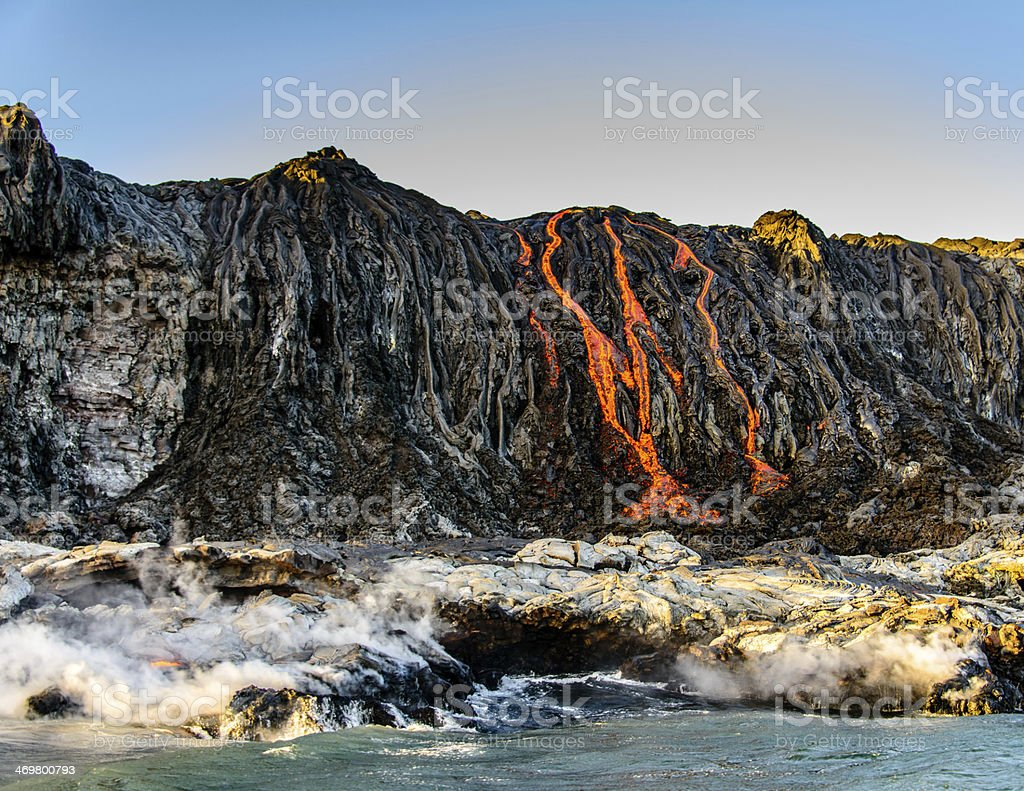 Volcano Flow stock photo