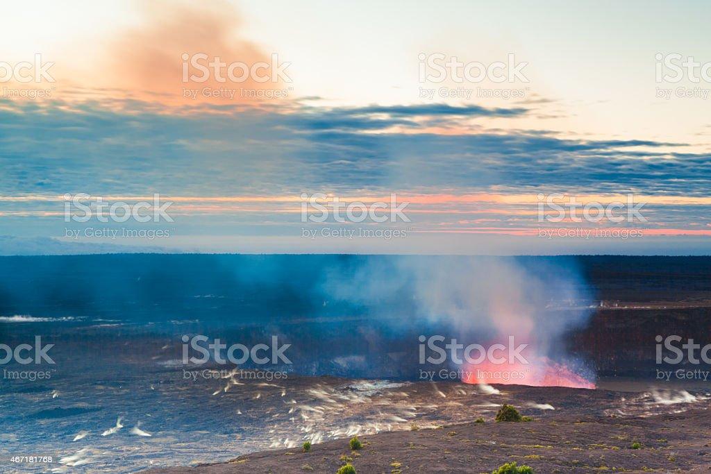 Volcano glow stock photo