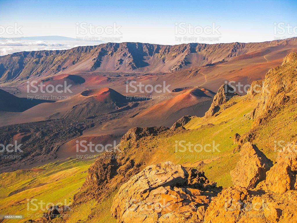 Volcano Haleakala Maui stock photo