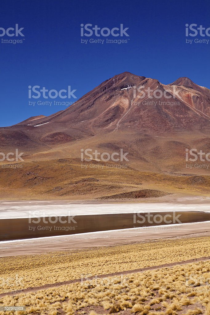 volcano in Andes Mountains royalty-free stock photo