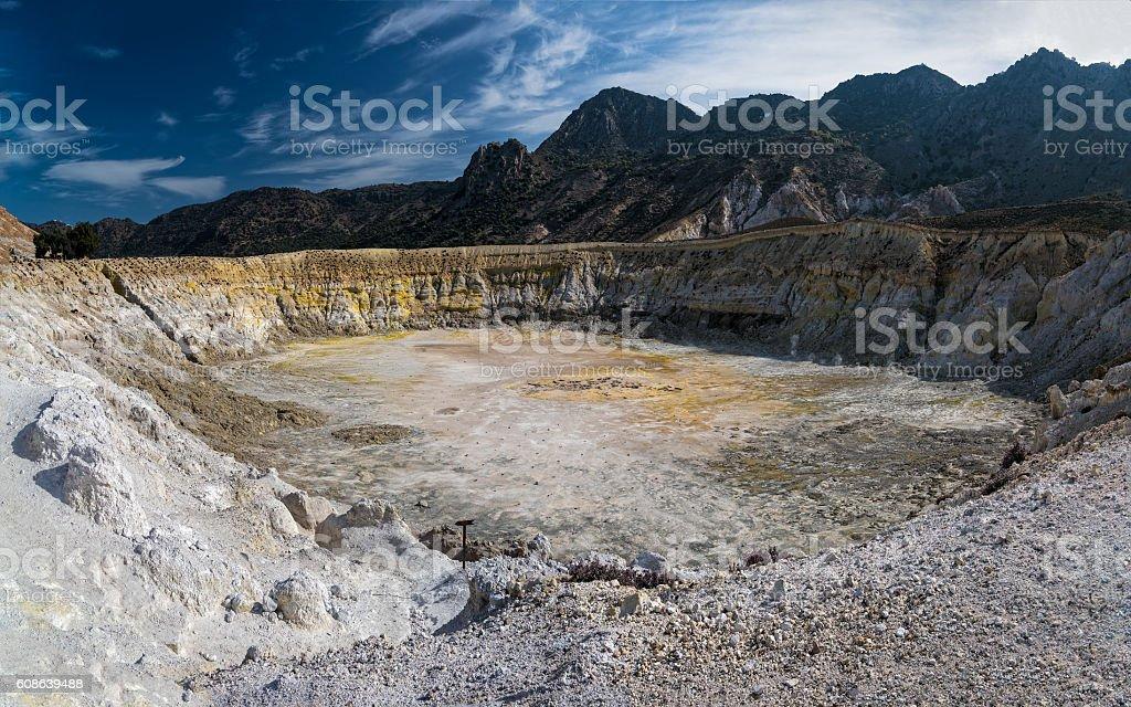 Volcano in Greece stock photo
