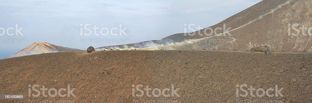 volcano in italy royalty-free stock photo