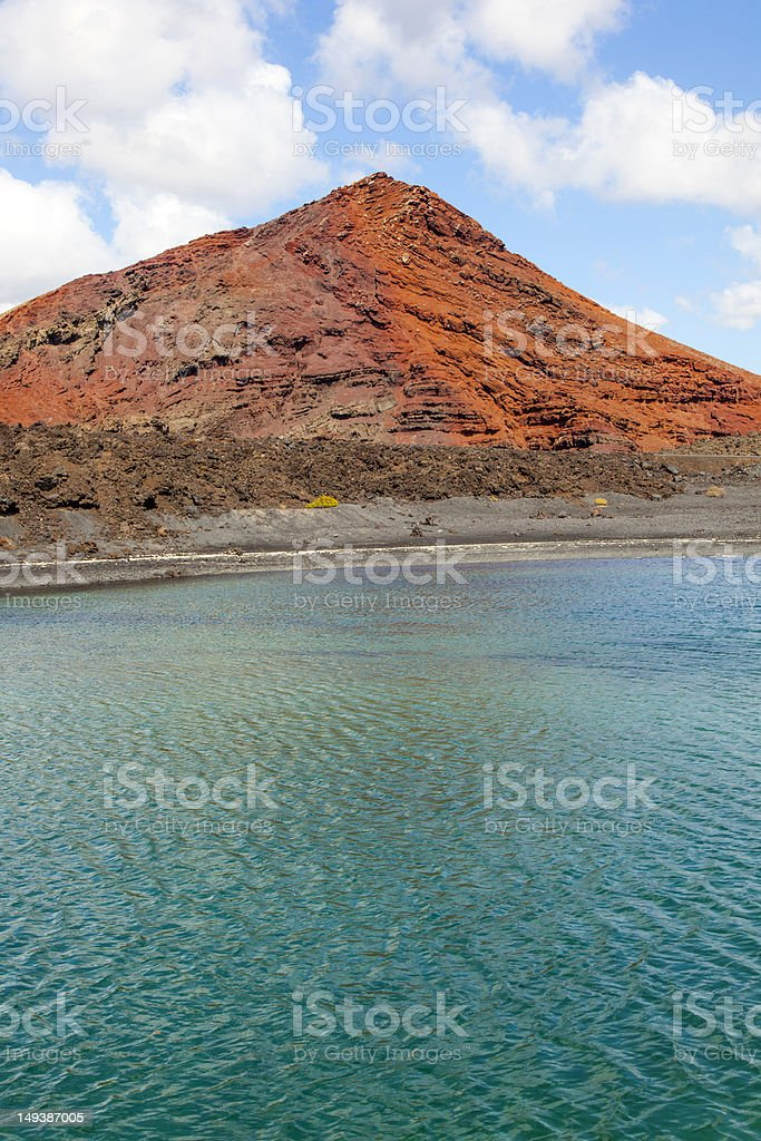 volcano  in Lanzarote, Spain royalty-free stock photo