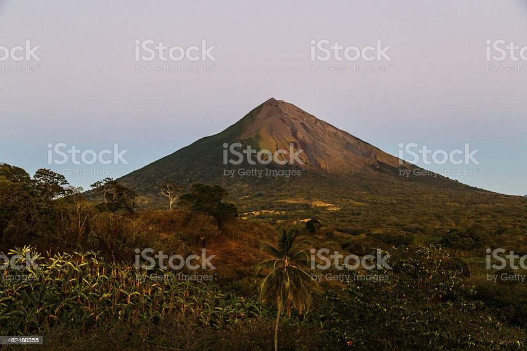 volcano in ometepe stock photo