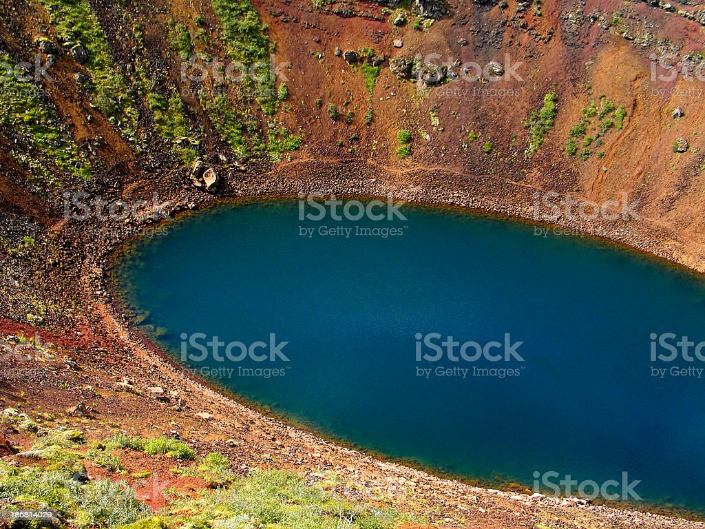 Volcano Kerith: Impressive Volcanic Crater in Iceland stock photo