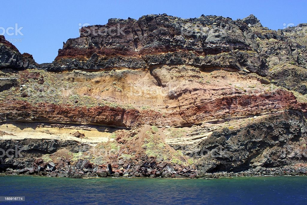 Volcano layer #1 royalty-free stock photo