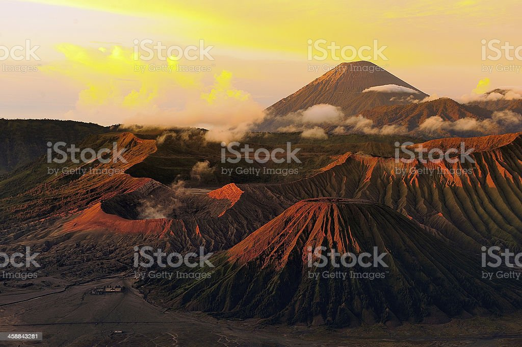 Volcano Mountain Landscape of Mount Bromo at Indonesia stock photo