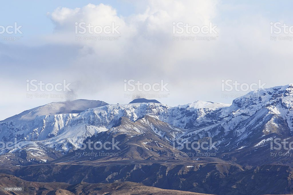 Volcano Mt. Eyjafallajokull  of  Eruption in Iceland stock photo