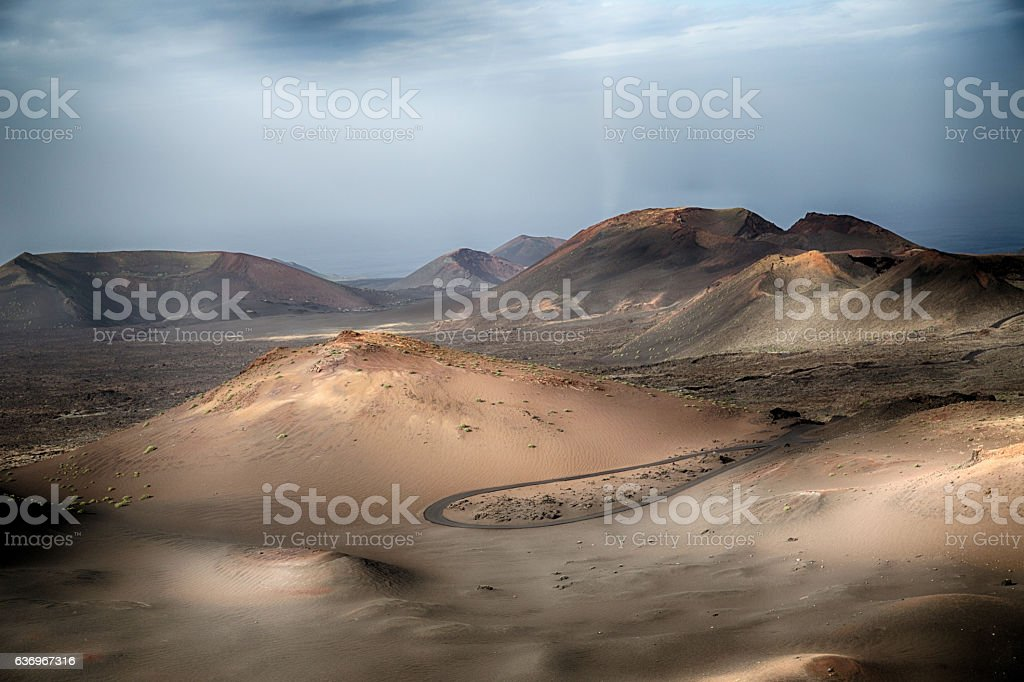 Volcano on the island of Lanzarote stock photo