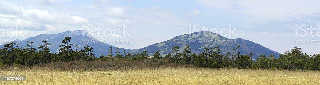 Volcano panorama stock photo