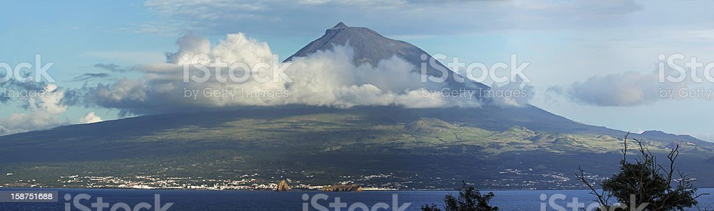 Volcano Pico, Azores - Panorama stock photo