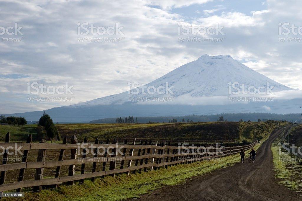 Volcano stock photo