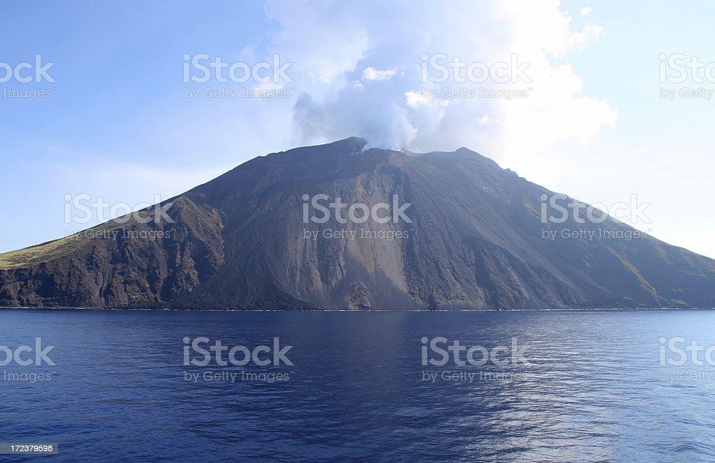 Volcano royalty-free stock photo