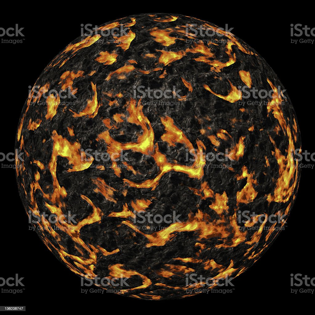 Volcano planet royalty-free stock photo