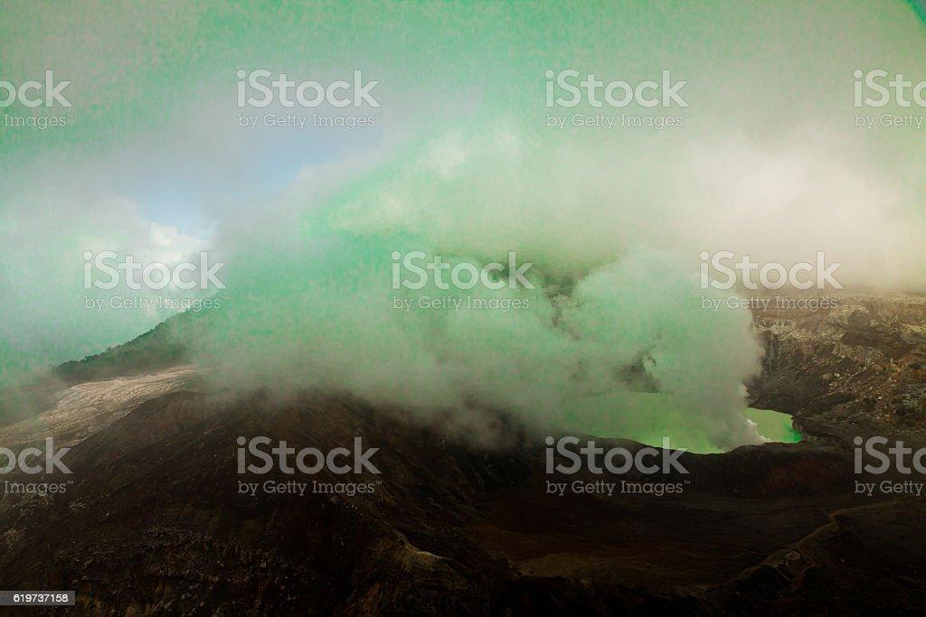 Volcano poas, Costa Rica stock photo