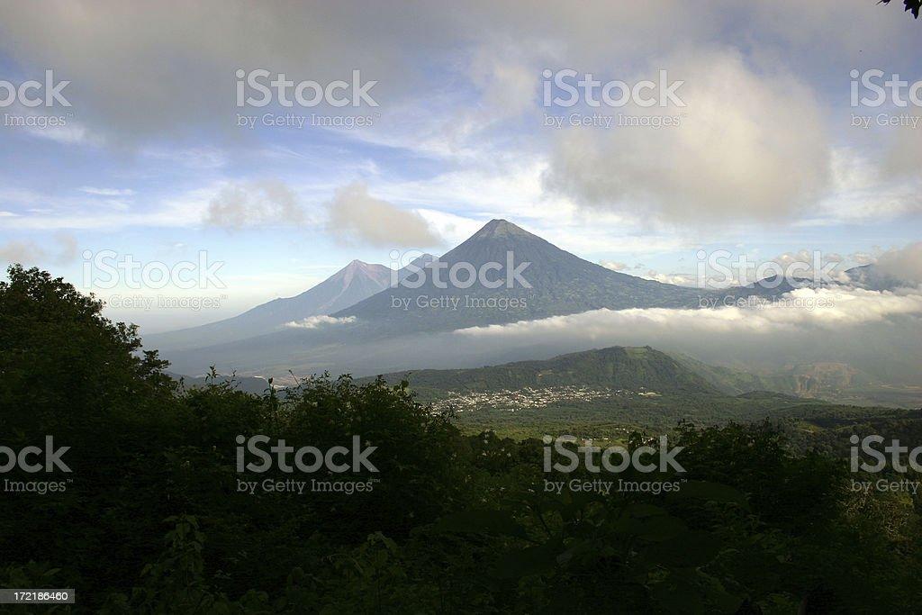 Volcano Rain royalty-free stock photo