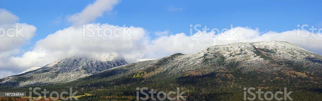 Volcano snow stock photo