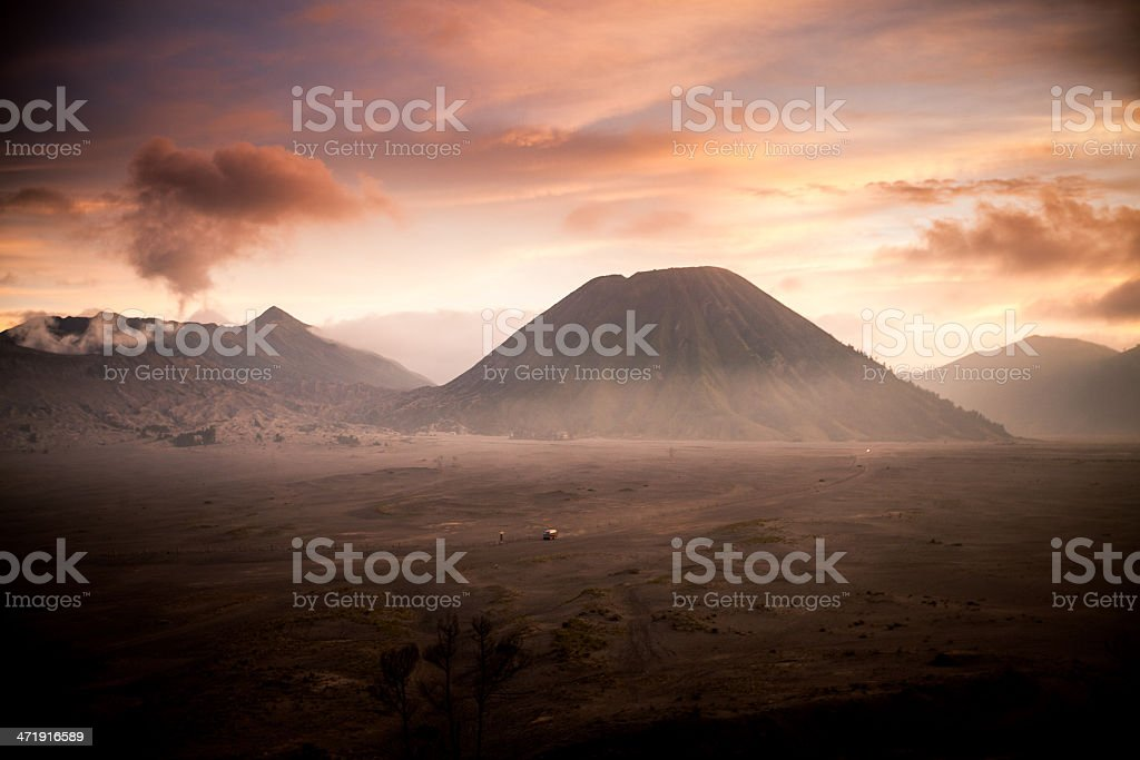 Volcano Sunrise, Indonesia royalty-free stock photo