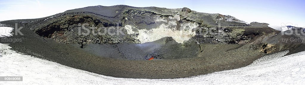 Volcano Top royalty-free stock photo