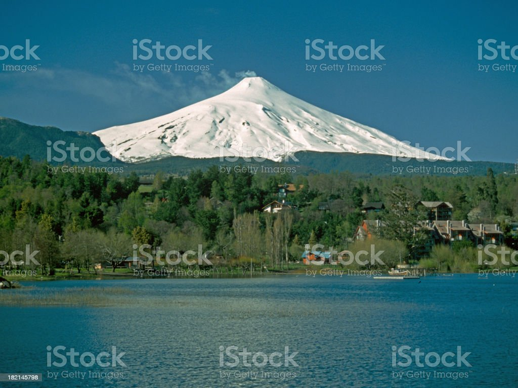 Volcano Villarica at daylight royalty-free stock photo