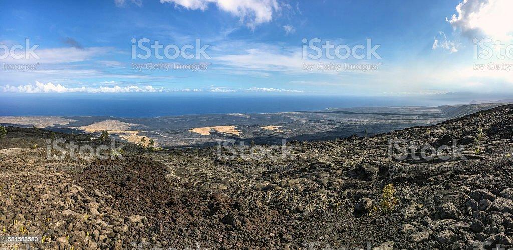 Volcano world panorama stock photo