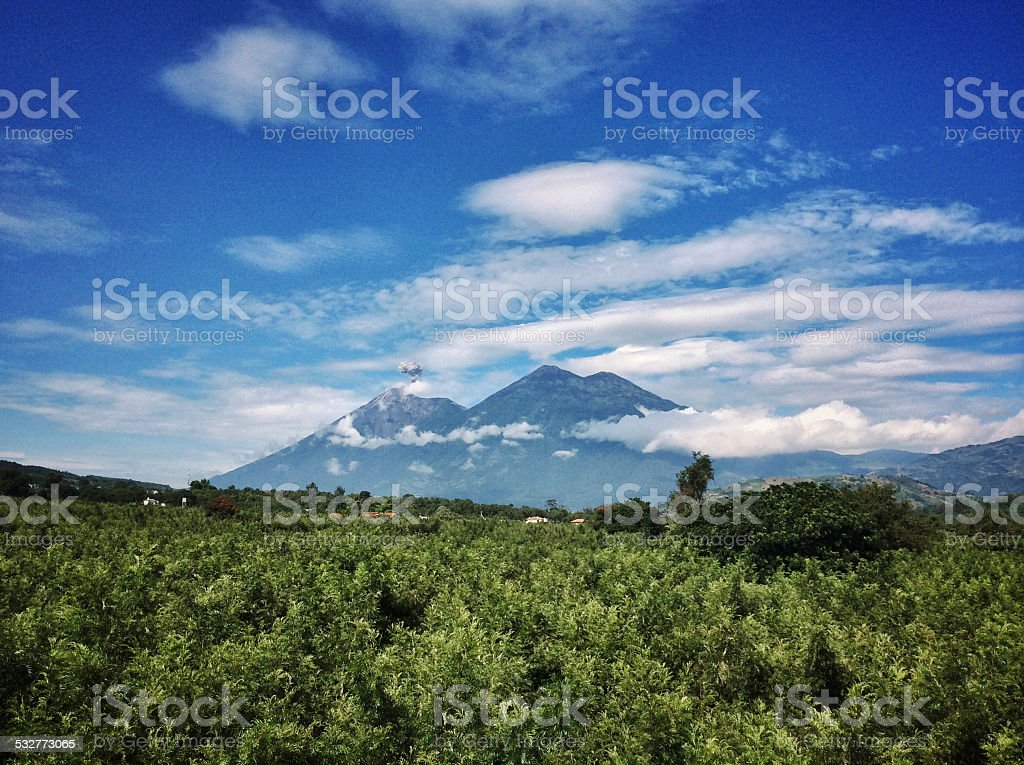 Volcanoes Guatemala stock photo