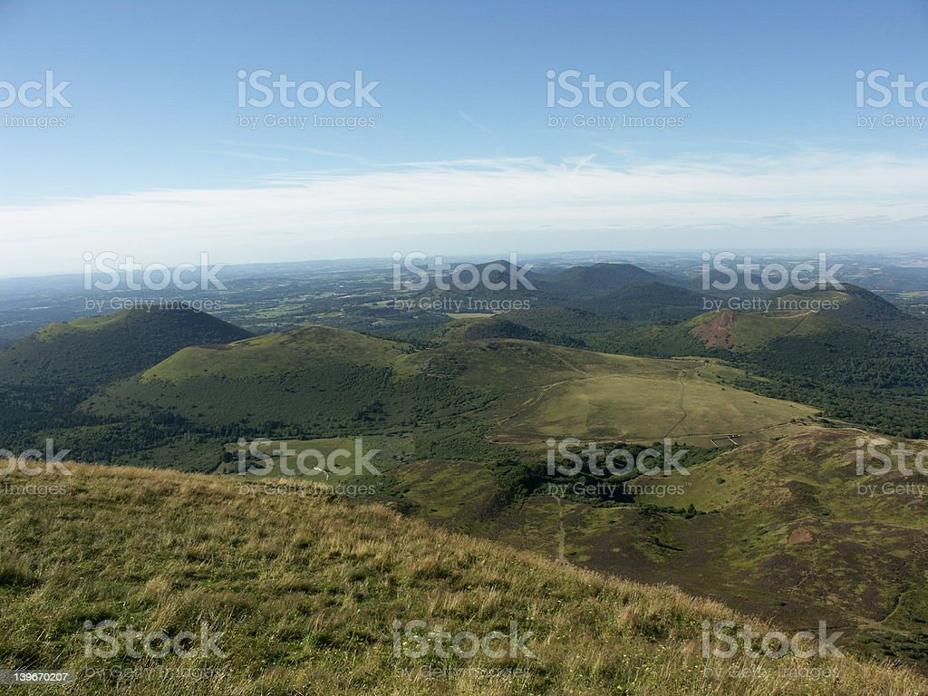 Volcanos - Auvergne - France royalty-free stock photo
