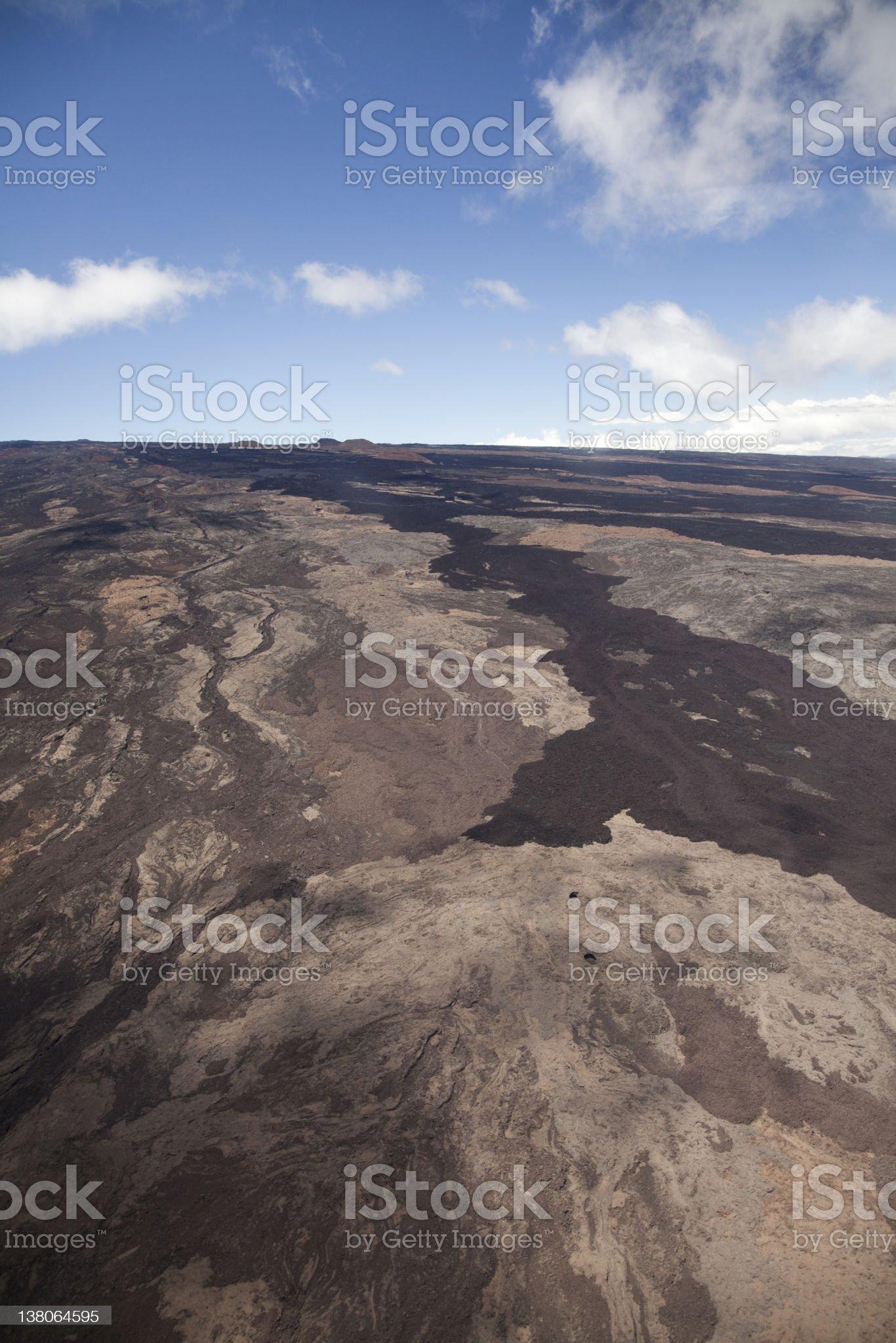 Volcano's lava at Big Island royalty-free stock photo