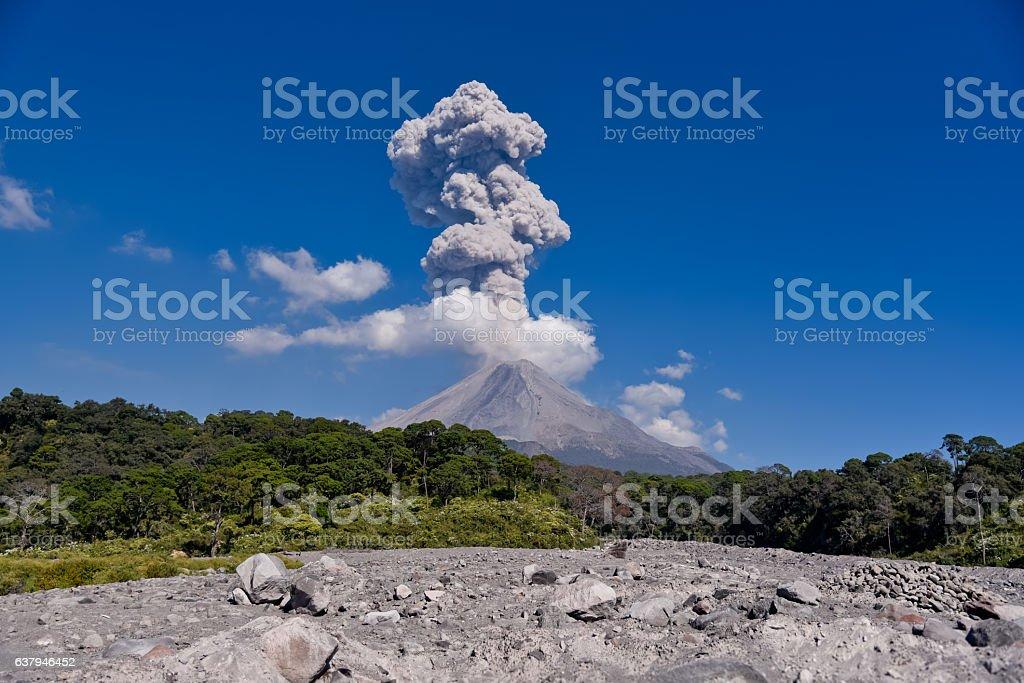 Volcán de Colima. stock photo