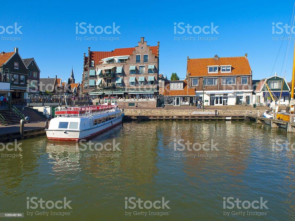 Volendam Pier stock photo