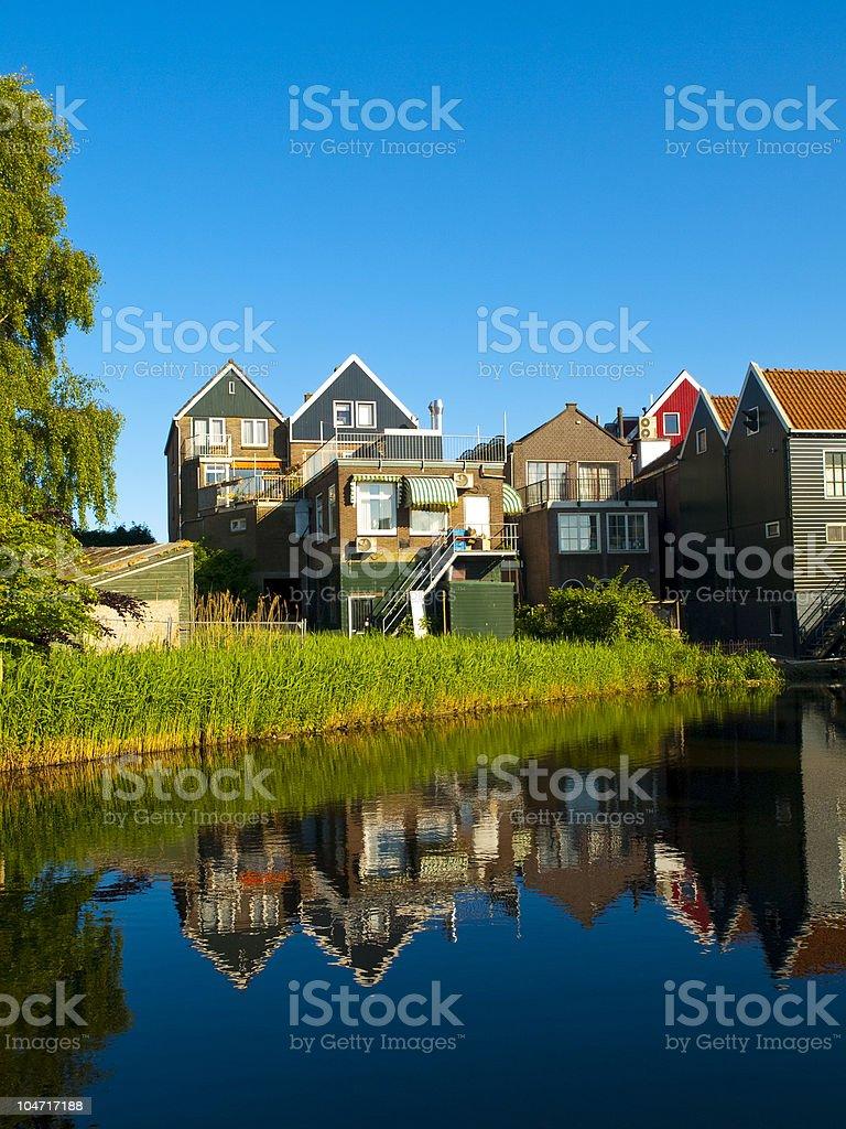 Volendam Streets stock photo